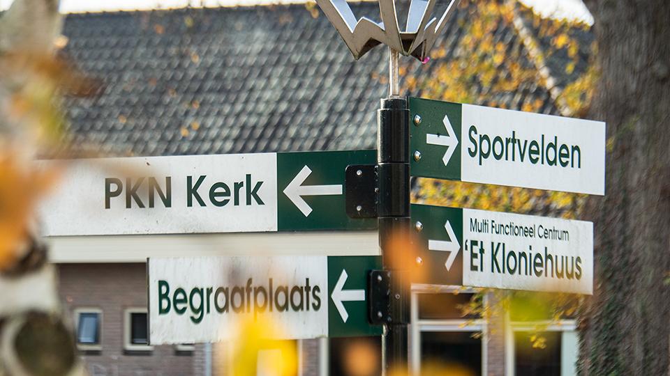 richtingsborden in Makkum
